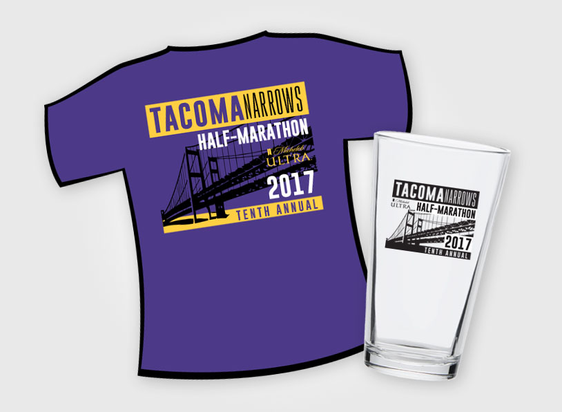 Tacoma Narrows Half Marathon – Shirts & Pints