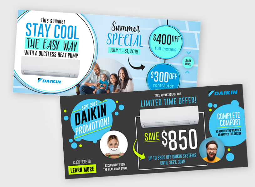 Daikin Promotions – Website Banners